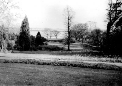 Open view across the grounds to Holes Bay, Sterte and Poole