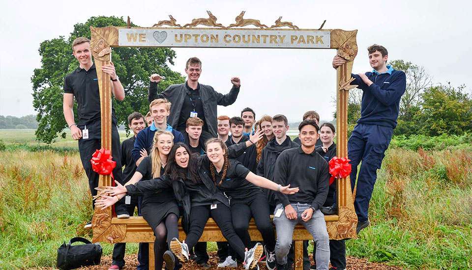 Giant Picture Frame To Celebrate A Larger Park Upton