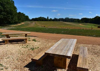 Extensive new meadows, footpaths and picnic area