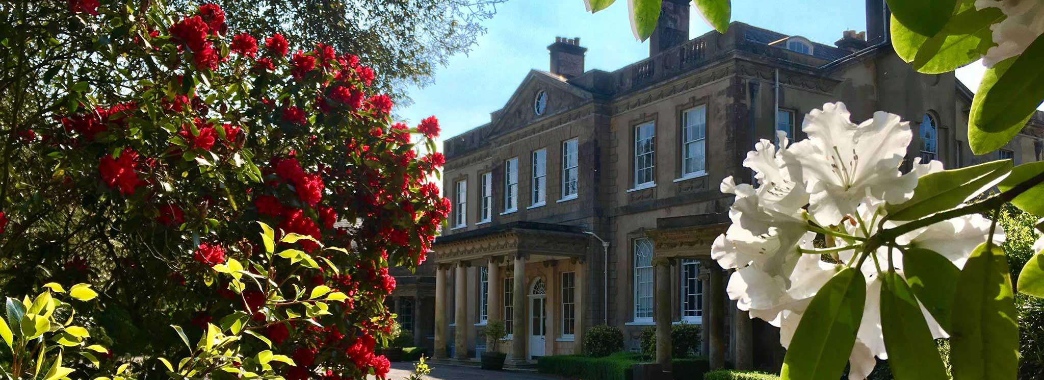 Beautiful Upton House and grounds in the sunshine