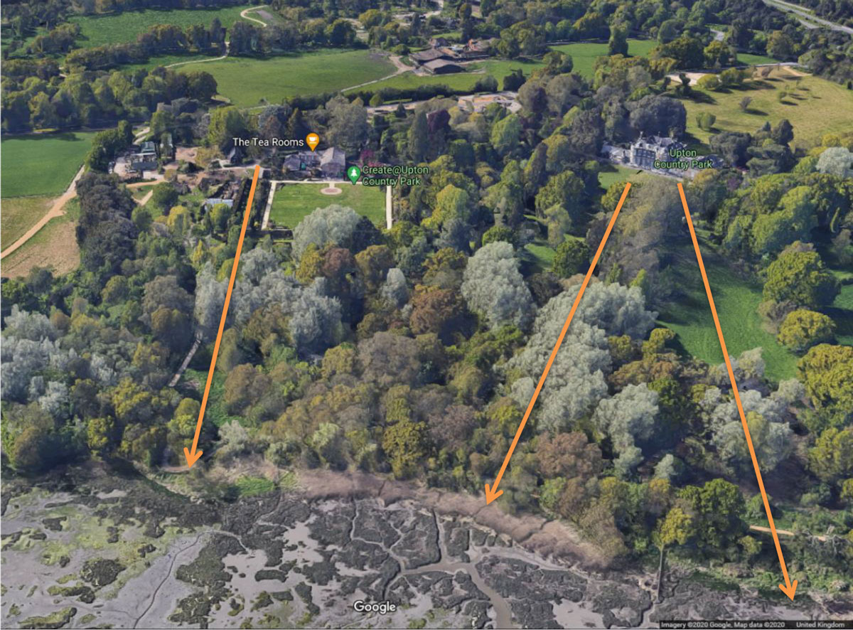 The three historical landscape views to be reinstated