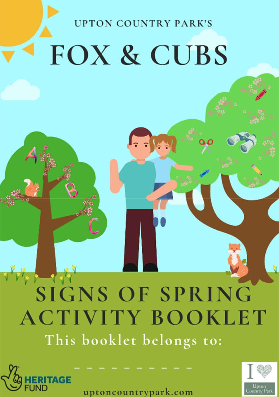 February Fox & Cubs Activity Booklet to print
