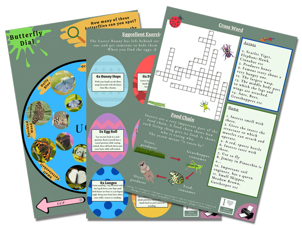 March Fox & Cubs printable pages